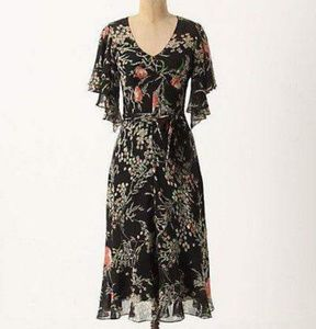 Girls from Savoy black floral dress